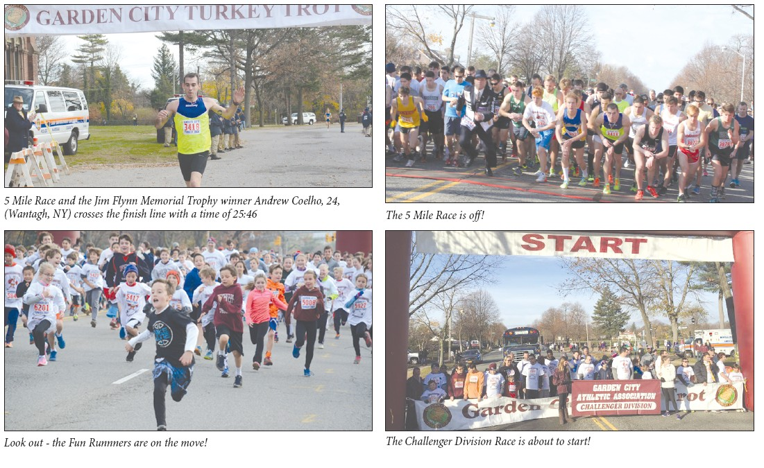 the 38th annual garden city turkey trot was the biggest turkey trot ever with well over 6600 runners from all over long island and beyond taking part in - Garden City Turkey Trot